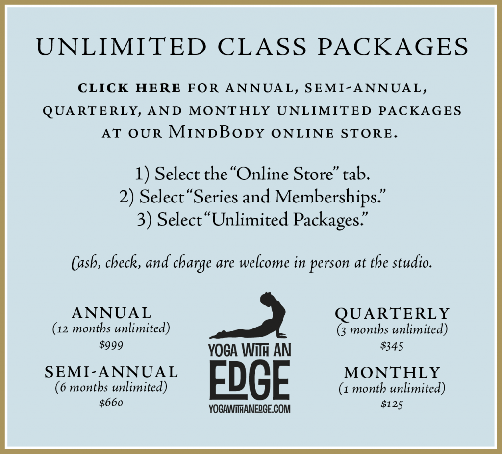 PURCHASEbutton - Unlimited Class Packages - Yoga with an Edge-01