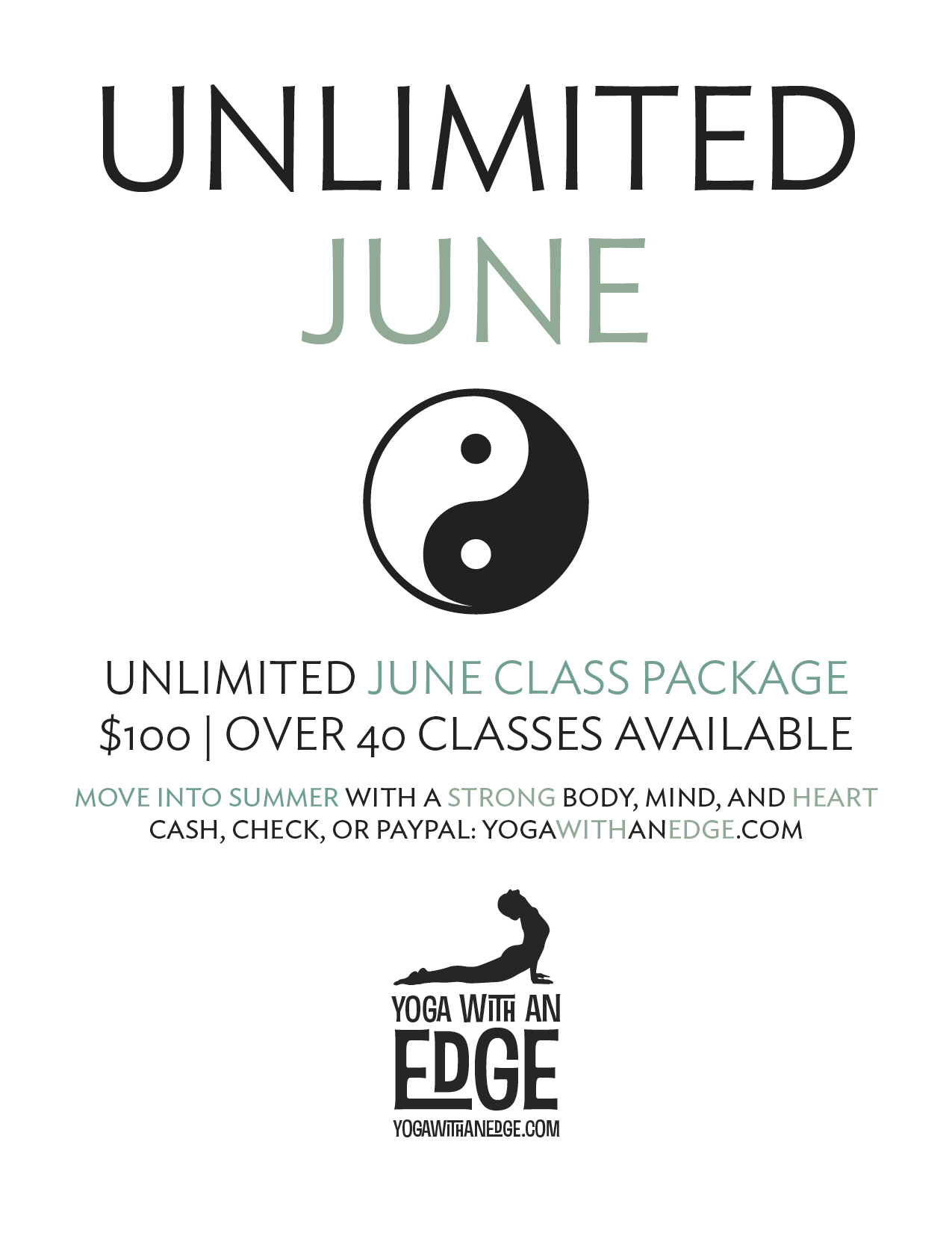 Yoga with an Edge - Unlimited June